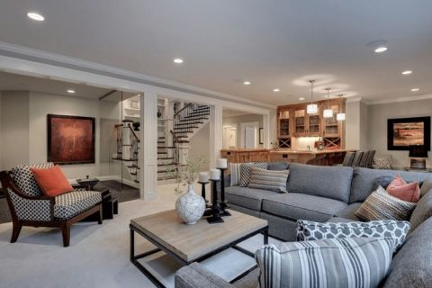basement living rooms utah