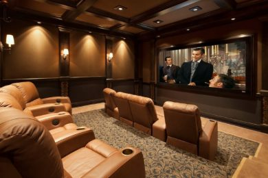 BASEMENT THEATER ROOMS