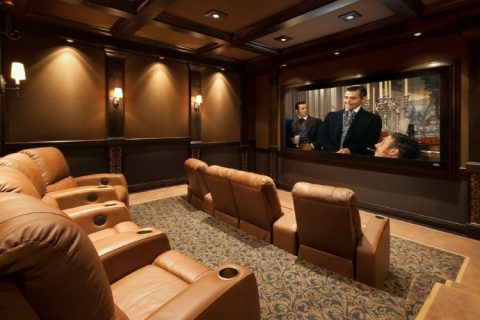 basement theater room utah